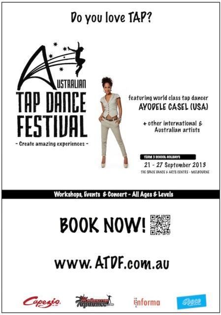 2013 Festival Flyer8b - Australian Tap Dance Festival small sponsor2 copy